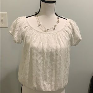Beautiful white Express casual top size L